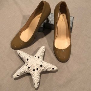 Kate Spade nude heel 8.5 round toe patent leather